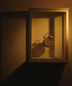 A buried clock dug up